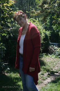noch ein bisschen mehr aus ,Wolle, Stoff  und Faden:: und nochmal die Zippeljacke  in rot ....