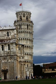 The famous Leaning Tower of Pisa, Italy.
