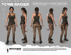 Lara Croft's Desert Tank Top outfit Plus