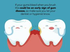 Dental tips -bleeding gums - Dental marketing - Dental Health Dental Quotes, Dental Humor, Dental Hygiene, Dental Care, Dental Assistant, Teeth Health, Dental Health, Gum Health, Healthy Teeth