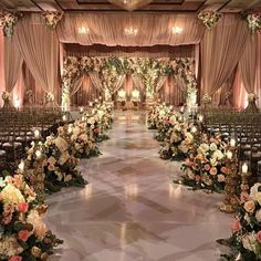 Stunning Mandap Decor Ideas for the Indoor Wedding! Wedding Ceremony Ideas, Wedding Hall Decorations, Indoor Wedding Ceremonies, Wedding Reception Backdrop, Romantic Wedding Decor, Wedding Entrance, Wedding Mandap, Romantic Ideas, Indian Wedding Receptions