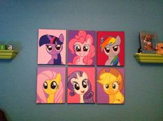 Paintings I did for Olivia's my little pony themed room. :)