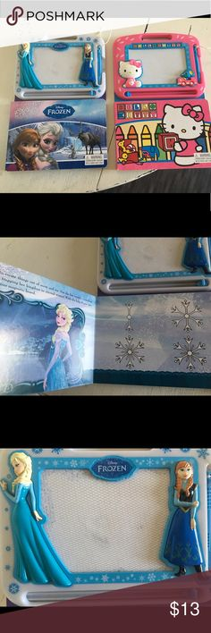 The Magnetic Drawing Pad And easy-to-use Magnetic Pen  Slide Tab to Erase Disney Other