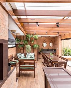 Awesome 40 Fabulous Indoor Outdoor Living Spaces Design Ideas That You Need To Try Parrilla Interior, Patio Design, House Design, Indoor Outdoor Living, Outdoor Decor, Home Interior Design, Living Spaces, Sweet Home, Home Decor