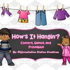 How's+It+Hanging? Differentiated+Math+Centers,+Games,+and+Printables  This+is+a+set+of+math+centers+that+is+themed+around+laundry+and+clothing.++St...