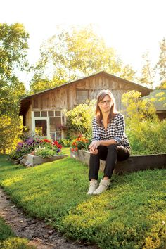 'Heartland Table's' Amy Thielen at home in her garden. Photo by TJ Turner.