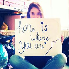 Home is where you are, quote
