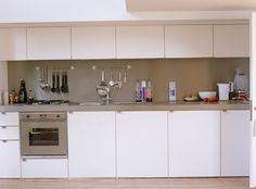 Modern Kitchen - remove top shelves.