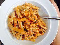 Sage & Cinnamon : Gluten Free Penne w Chicken, Mushrooms, Capers in Tomato Bisque