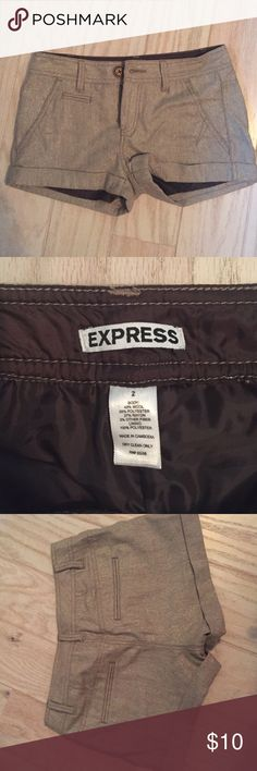 Gold tone fall/winter Express shorts NWOT Never worn, these would be so cute with brown/black tights and boots! Express Shorts