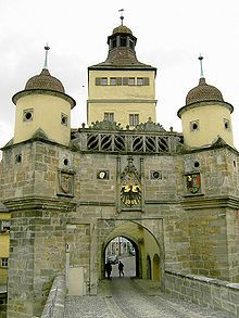 "Recognized as one of Bavaria's most beautiful town gates is the 14th century Ellinger Tor in Weissenburg (courtesy of Wikipedia).  Hard to believe, but in the 19th century, then ""progressives"" wanted to tear down the gate to make room for road construction.  Now it is on Bavaria's historic register."