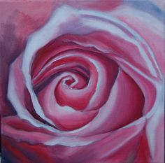 Pink Rose Oil Painting by missbuzz on Etsy, $90.00