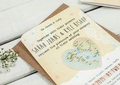 Map Bundle Wedding Invitation
