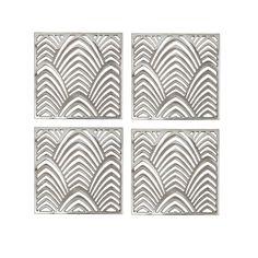 Roos Interior Glasunderlägg 4-pack Palm Beach Silver - Brickor & Underlägg - Servering & Dukning | Kökets Favoriter