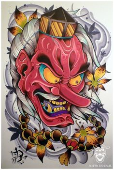 Tengu by David Tevenal Japan Design, Japan Tattoo Design, Japanese Tattoo Art, Japanese Sleeve Tattoos, Japanese Art, Japanese Dragon, Kunst Tattoos, Irezumi Tattoos, Body Art Tattoos