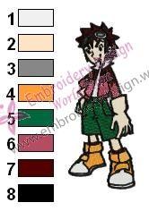 Daisuke Motomiya Digimon Embroidery Design