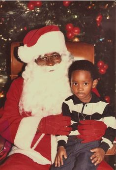 visiting santa - Black People Christmas