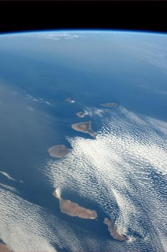 View from spacecraft...........Canary Isles in the vast Atlantic Ocean.........lovely L x