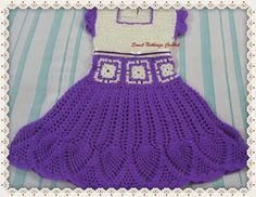 Sweet Nothings Crochet: MY PURPLE PINEAPPLE DRESS