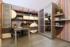 The perfect place to let productivity reign. Super stripes too! www.paolomarchetti.com #furniture #design #office
