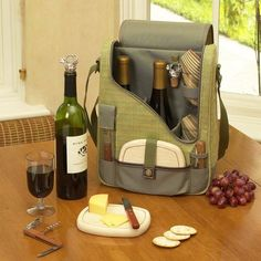Wine and Cheese Cooler Picnic Backpack