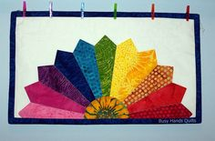 Rainbow Dresden Plate Wall Hanging | Try a New Technique as an Island Batik Ambassador | Busy Hands Quilts