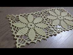 Tığişi Dantel Örgü Kare Motif Modeli Yapılışı & Crochet - YouTube Crochet Flower Squares, Flower Motif, Granny Square Crochet Pattern, Crochet Flowers, Crochet Table Runner Pattern, Crochet Motif Patterns, Crochet Tablecloth, Crochet Doilies, Diy Crafts Crochet