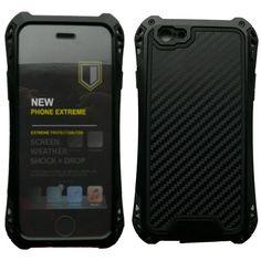 Sale 15% (22.09$) - Waterproof  Shockproof Carbon fiber Metal Case Cover For iPhone 6