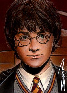 Harry Potter Sketch Card 2 by RandySiplon.deviantart.com