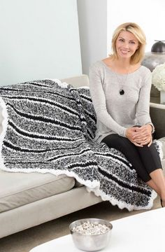 Cozy Striped Throw in Red Heart Light & Lofty - LW3105. Discover more Patterns by Red Heart Yarns at LoveKnitting. We stock patterns, yarn, needles and books from all of your favorite brands.