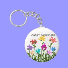 Puzzle pieces garden key chain #autism #awareness #keychain
