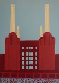 Red Battersea Power Station (II) by Jennie Ing. One of my favourite buildings.