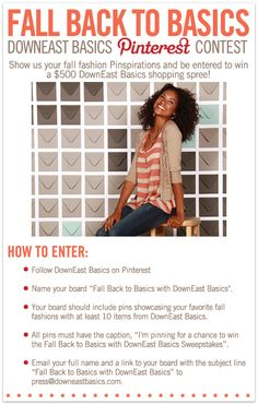 DEADLINE August 31: For more information and official contest rules visit the DownEast Basics Blog.