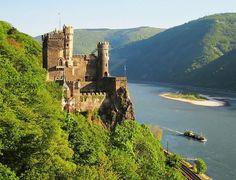 Rheinstein - Rheinstein Castle - Wikipedia Places To Visit, Castles, River, Palaces, Outdoor, Google Search, Mainz, Rhineland Palatinate, Places