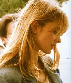 Nastassja Kinski // medium length // bangs //  bronde // blonde hair * love these bangs!