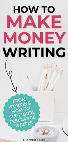 How To Make Money Writing Online From Home (Beginner's Guide Looking to make money writing from home this year? Have a passion for freelance writing? I want to show you how you can make a living writing online. Make Money Writing, Make Money Blogging, How To Make Money, Earn Money, Article Writing, Writing Tips, Creative Writing, Best Business To Start, Write Online
