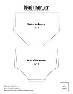 "Bikini Underwear for 18"" dolls"