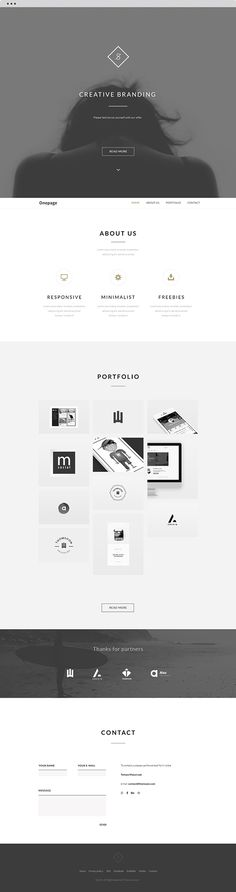 FREE Landing Website | Clean theme | Behance API + PSD on Behancehttps://www.behance.net/gallery/21699611/FREE-Landing-Website-Clean-theme-Behance-API-PSD