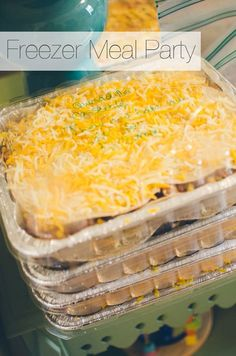 """This Make-Ahead Mexican Lasagna has all of your favorite south-of-the-border flavors in one easy layered """"lasagna"""" that you can make ahead of time and freeze for easy dinner! Or use for meal prep or freezer lunches! Freezer Meal Party, Budget Freezer Meals, Make Ahead Freezer Meals, Frugal Meals, Crockpot Meals, Freezer Recipes, Budget Recipes, Bulk Cooking, Cooking On A Budget"""