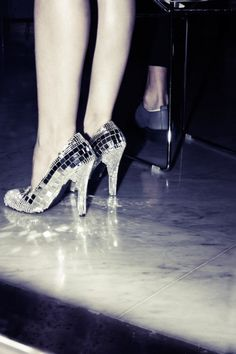 Glitter ball shoes for Christmas day? I think so!