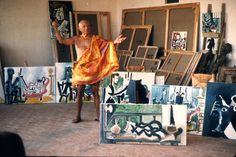 Picasso dans l'atelier de Mougin  Juillet 1963 - Robert Doisneau