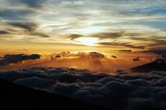 10,000 feet in the air at the summit of Mount Haleakala in Maui, Hawaii for the sunrise.