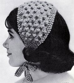 Popcorn-Stitch Headband knit pattern from High Fashion Hats, originally published by Bernhard Ulmann, Volume 62, in 1961.