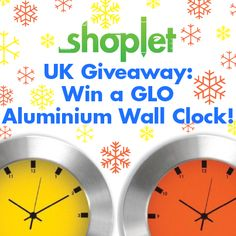 #Win GLO Aluminum Contemporary Wall Clocks! To enter: Repin, then go to our blog and comment letting us know what why you love the holidays :) Good luck!