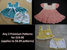 Crochet Pattern You Choose Three Patterns by ThePatternParadise, $19.00