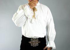 18th Century Men's Shirt Men's White Shirt от TheOnlyOneInTheWorld