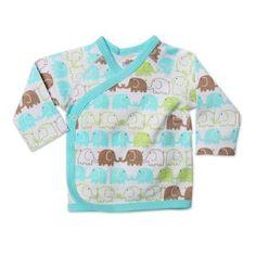 Zutano Baby-Boys Newborn Elephants Kimono Wrap Top $20.95 - $21.00
