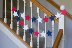Patriotic garland, Fourth of July banner, red white and blue stars Fourth Of July Decor, 4th Of July Decorations, July 4th, Cricut Banner, Sunshine Crafts, Memorial Day Flag, Promotion Party, Its A Boy Banner, July Holidays