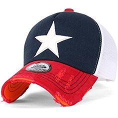 3df0d9cf85e ililily Star Embroidery tri-tone Trucker Hat Adjustable Cotton Baseball Cap