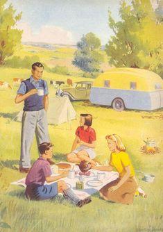 Enid Blyton's Treasury by Enid Blyton Vintage Illustration Art, Vintage Artwork, Vintage Prints, Vintage Images, Vintage Posters, Pin Up, Enid Blyton Books, Nostalgia, Family Poster